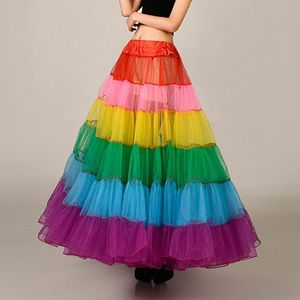 Image 3 - צבעוני תחתונית ללא עצמות שמלת כלה תחתוניות גדול מטוטלת ריקוד רשת טוטו חצאיות קרינולינה כלה תחתונית רוקבילי