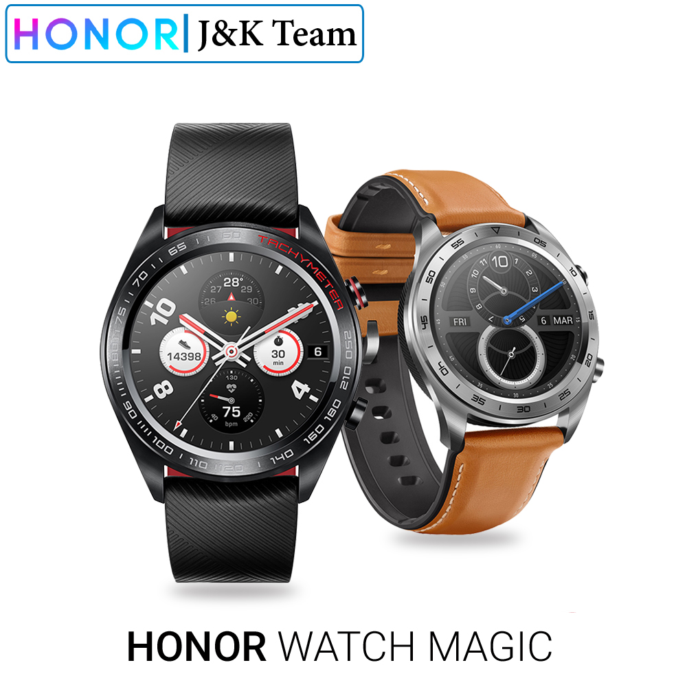 Huawei Honor Watch Magic Smart Watch GPS 5ATM WaterProof Heart Rate Tracker Sleep Tracker Working 7 Days Message Reminder