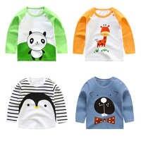 Unisex 6 M-4 T niño niñas niños Camiseta de manga larga impresión niños algodón otoño bebé camisetas superior Unisex niño camisetas ropa para niñas pequeñas