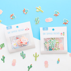 Small Fresh Diary Pocket Sticker Cute Cartoon Sticker Pack Emoticon Pack Album Diy Decorative Sticker