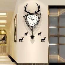 Pendulum QUARTZ Silent Wall Clock Modern Design Home Decor Swing Hanging Classical Living Room Decorative Art Watch