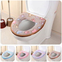 Cushion Cover Warmer Closestool Toilet-Seat Bathroom Washable Soft -4z Mat Embroidered