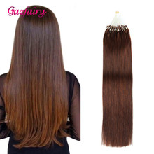 Gazfairy 16 18'' 20 22 24?? 50-100g Straight Loop Micro Ring Hair Pure Color Human Bead Links Real Remy Extensions