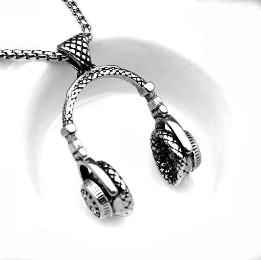 Moda erkek kulaklık kolye kristal kafatası kafa kolye kişilik takı kazak zincir kadın moda aksesuarları