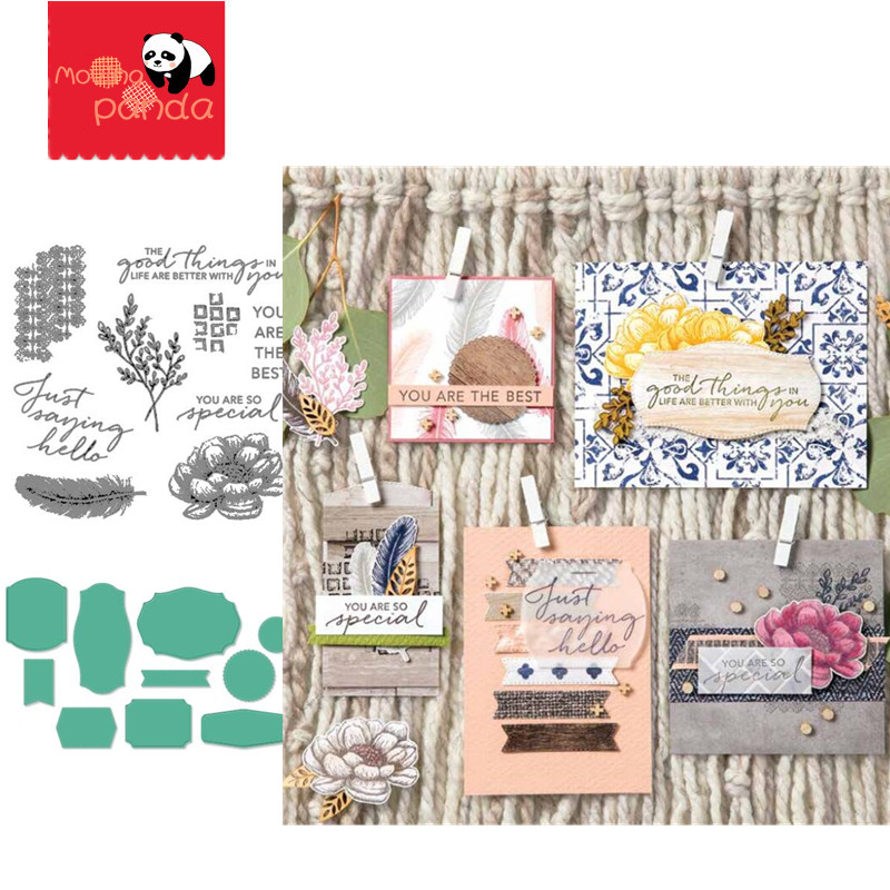 MP153 TASTEFUL TOUCHES Metal Cutting Dies And Stamps For Card DIY Scrapbooking Stencil Paper Craft Album Template Dies