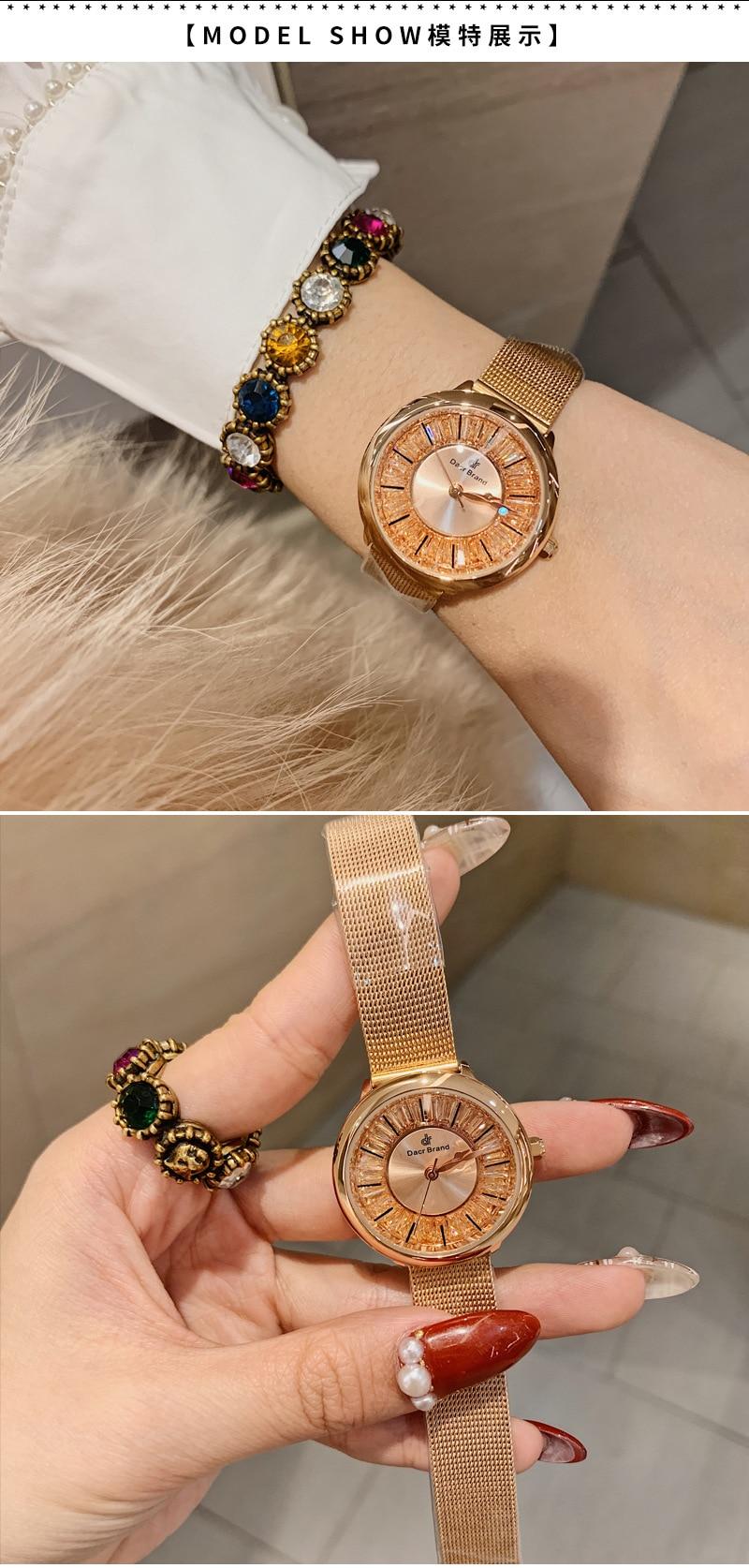 diamantes dial relógio feminino ins venda quente
