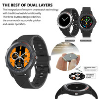 Lcd 2inch Perforated Screen Dual Bluetooth Ip67 Waterproof Smart Watch With Call For Iphone Phone For Huawei For Women Men Kid
