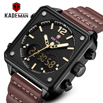 цена на KADEMAN Sport Watch Men Watches Waterproof 30M Wristwatch Relogio Masculino Big Dial Quartz Digital Military Army Clock Male