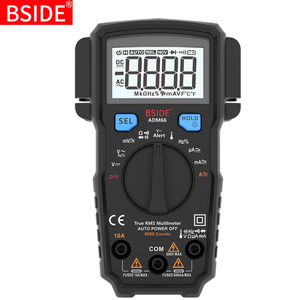Image 1 - Portable Digital Multimeter BSIDE ADM66 Auto Range True RMS Multimetro DC AC Voltmeter Ammeter Thermometer Ohm diode Tester