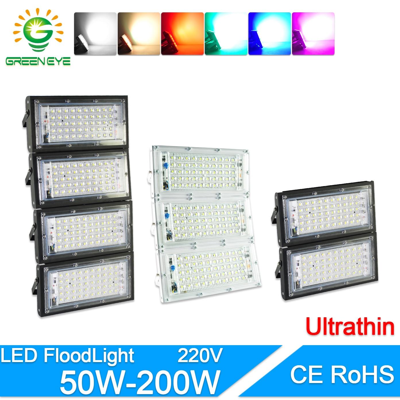 LED Flood Light 50W 100W 200W led Floodlight AC 220V 240V LED street Lamp waterproof IP65 outdoor Lighting led cob spotlight
