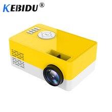 Портативный мини-проектор Kebidu J15 с поддержкой 1080P для AV, USB, SD, TF карт, USB, домашний мини-проектор, Детский Карманный проектор