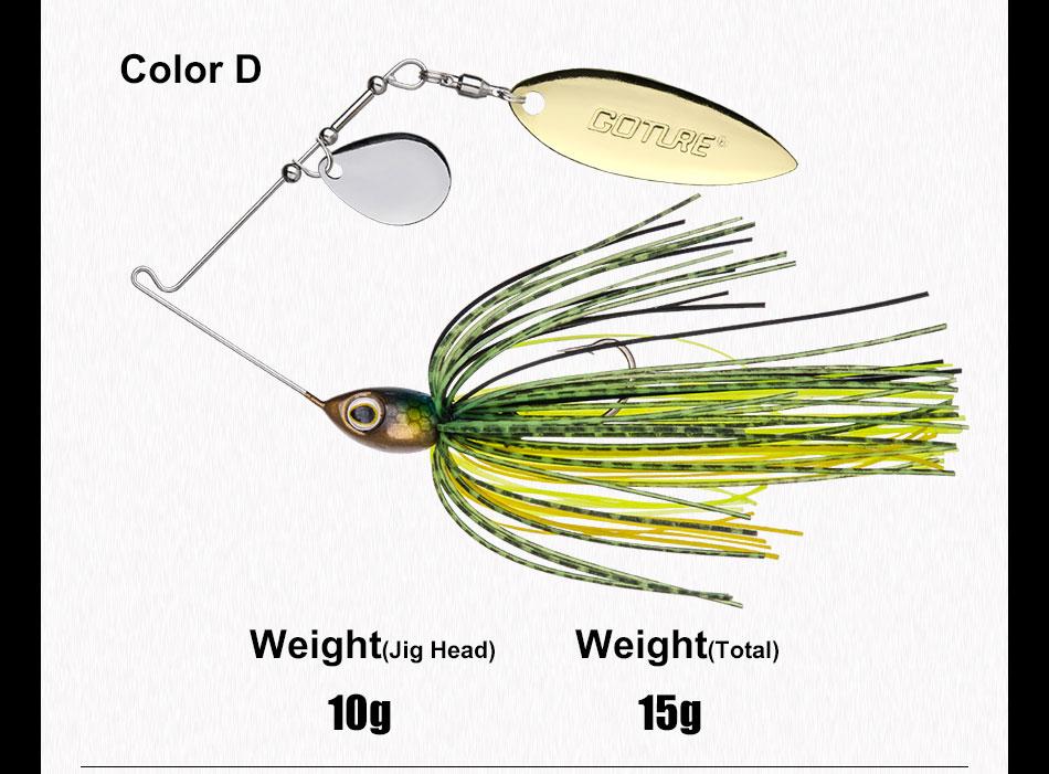 spinnerbait bait 10g 15g artificial bait jigging lure (10)