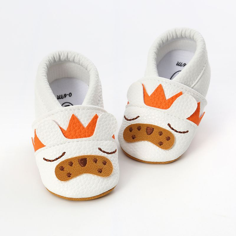 Cartoon Baby Shoes Soft Genuine Leather Baby Boys Girls Infant Shoes First Walkers