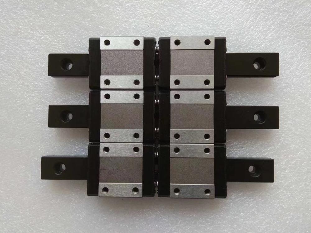 CNC miniature linear rail LWL20B - L200mm rail with LWL20B flanged widen linear block carriage iko
