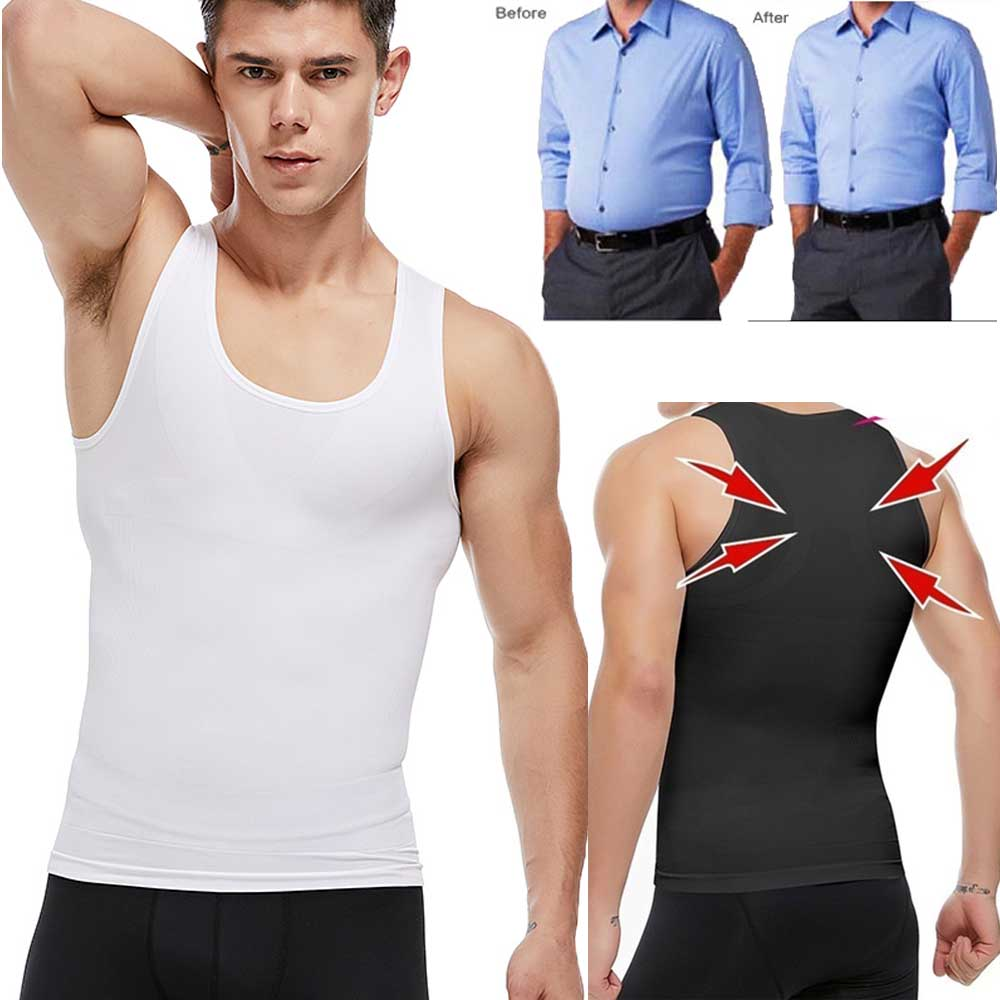 Men's Slimming Body Shaper Corset Shirt Compression Abdomen Tummy Belly Control Shapewear Underwear Waist Trainer Vest Corset