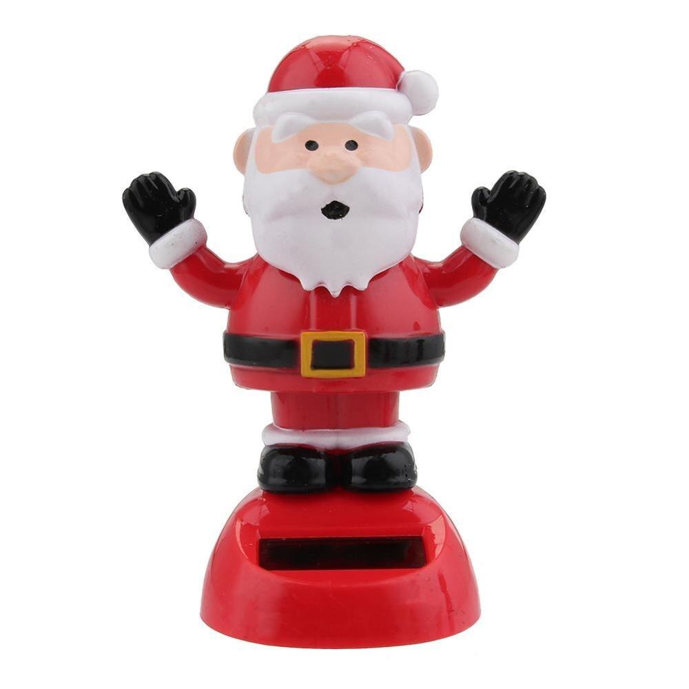 Горячее предложение, новинка, солнечные игрушки, очаровательные, на солнечных батареях, танцующая панда, Санта Клаус, животное, игрушка для дома, стол, автомобиль, украшения для детских игрушек, подарок - Color: C4