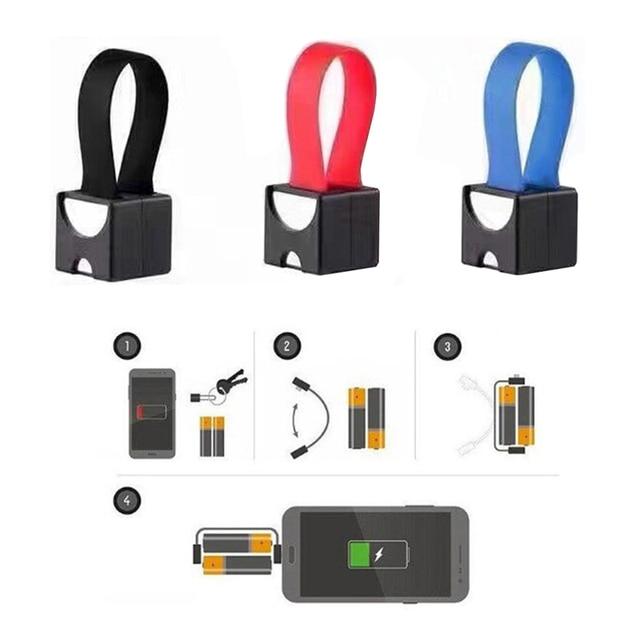 Taşınabilir manyetik AA/AAA pil mikro USB acil durum şarj cihazı Android telefon için