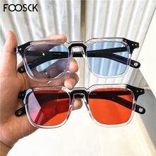Foosck 2020 retro feminina do vintage marca designer de luxo senhoras óculos de sol claro feminino óculos sol uv400
