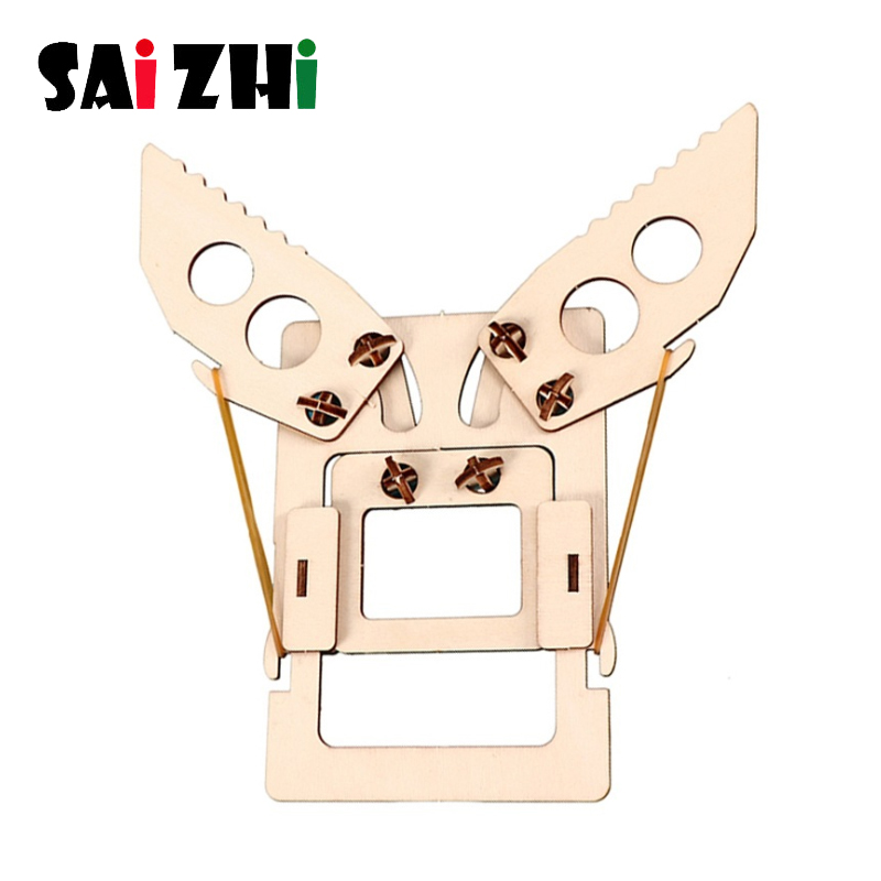 Saizhi Mechanical Arm Diy Models & Building Toy Science Education Model Toy For Children Gifts Toys Learning Education Toys Kits