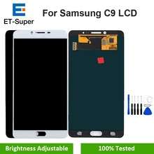 חם האמת סופר AMOLED מקורי LCD עבור סמסונג גלקסי C9 פרו C9000 תצוגת לוח מגע מסך Digitizer עצרת החלפה