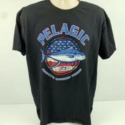 Camisa americana do logotipo do peixe-espada da pesca offshore dos homens de pelagic xl