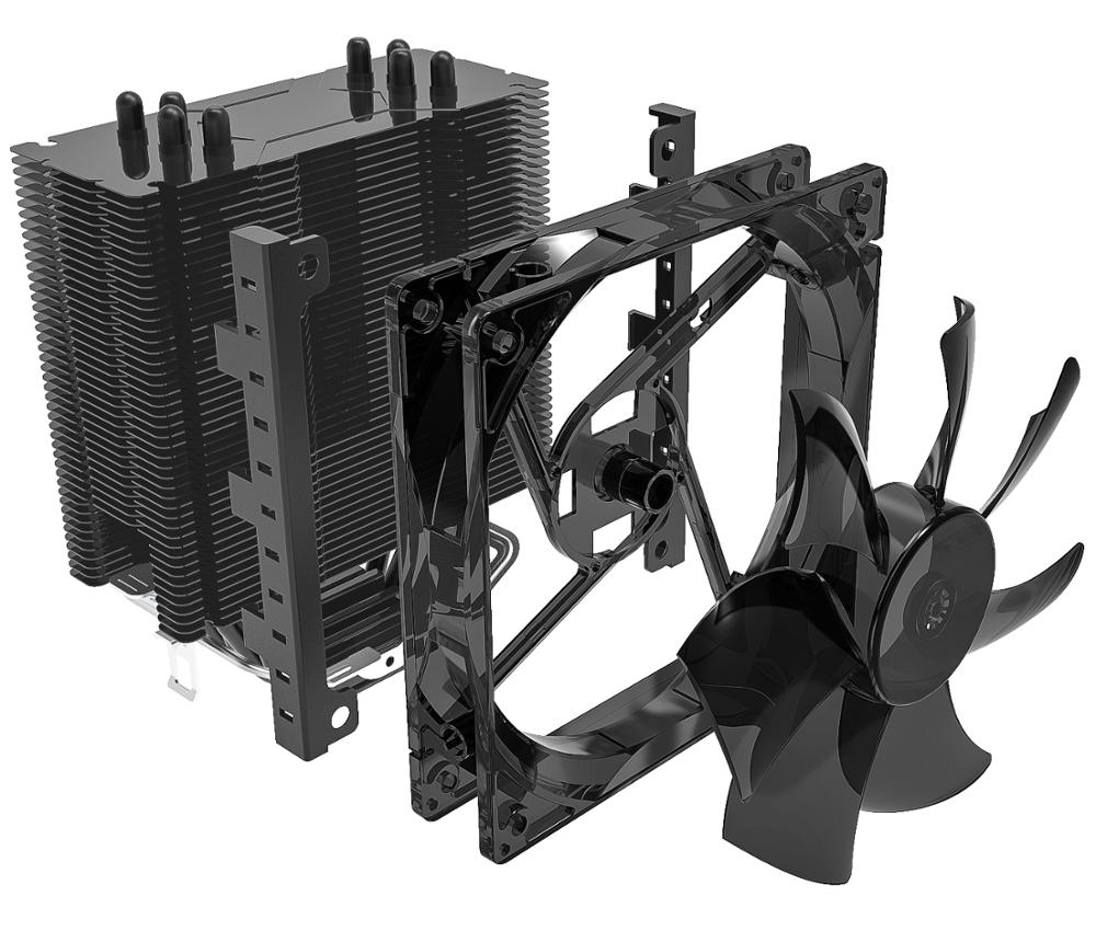 Image 5 - AIGO E3 4 Heatpipes CPU cooler for AMD Intel 775 1150 1151 1155 1156 CPU radiator 120mm 4pin cooling CPU fan PC quiet-in Fans & Cooling from Computer & Office
