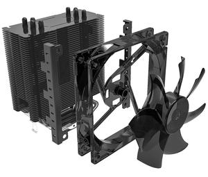 Image 4 - AIGO E3 4 Heatpipes CPU cooler for AMD Intel 775 1150 1151 1155 1156 CPU radiator 120mm 4pin cooling CPU fan PC quiet