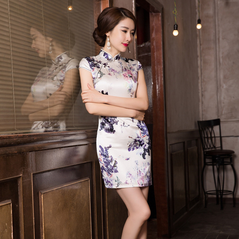 2019 Real Cheongsam Skirt Restoring Ancient Ways Is The New Fashion And Elegant Temperament Cultivate Morality Dress Wholesale Quinceanera Dresses   -