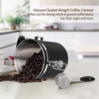 Stainless Steel Sealed Tank Storage Tank Moisture-proof Coffee Bean Milk Powder Jar Tea Pot Kitchen Grains Storage Box 3