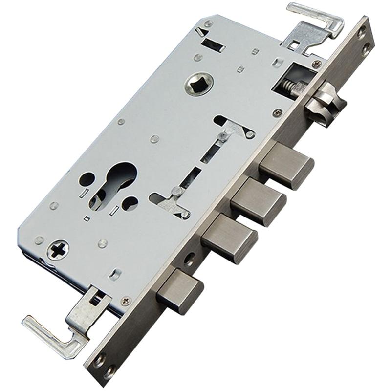 Security Door 304 Stainless Steel Lock Body Security Door Lock Body Single / Double Live Anti-Plug Card Lock Body