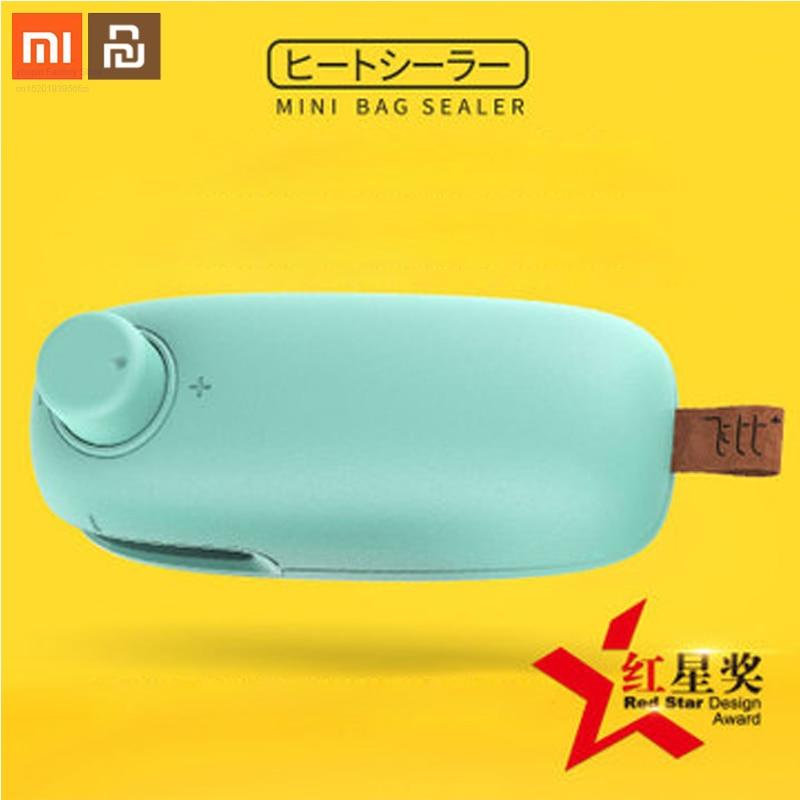 Xiaomi Portable Multi-function Heating Sealing Machine Mini Miniature Hand-press Food Packaging Bag Sealing Machine