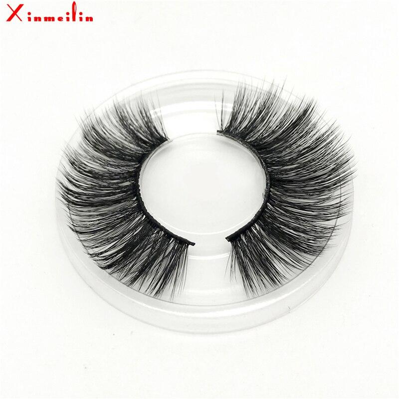 50 pairs 6D faux mink lashes wholesale natural long individual thick fluffy dramatic makeup volume false eyelashes with lash box - 3