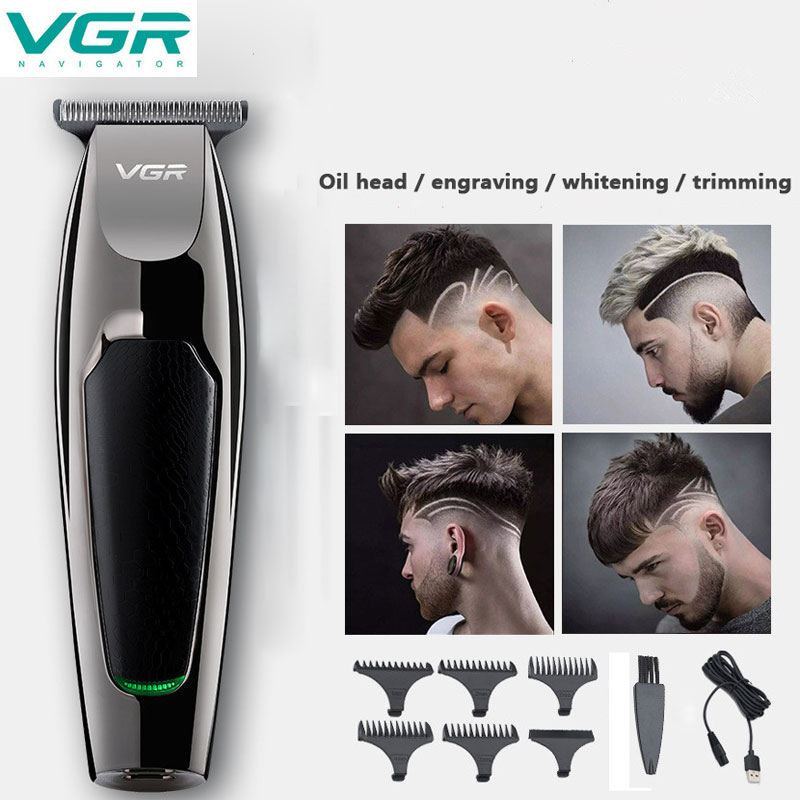 VGR V030 Professional Waterproof Hair Trimmer Display Men's Hair Clipper Grooming Low Noise Clipper Titanium Ceramic Blade Adult