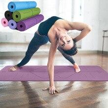 Фитнес-йога коврик безвкусно противоскользящие спортивные колодки с позицией для начинающих экологического гимнастика