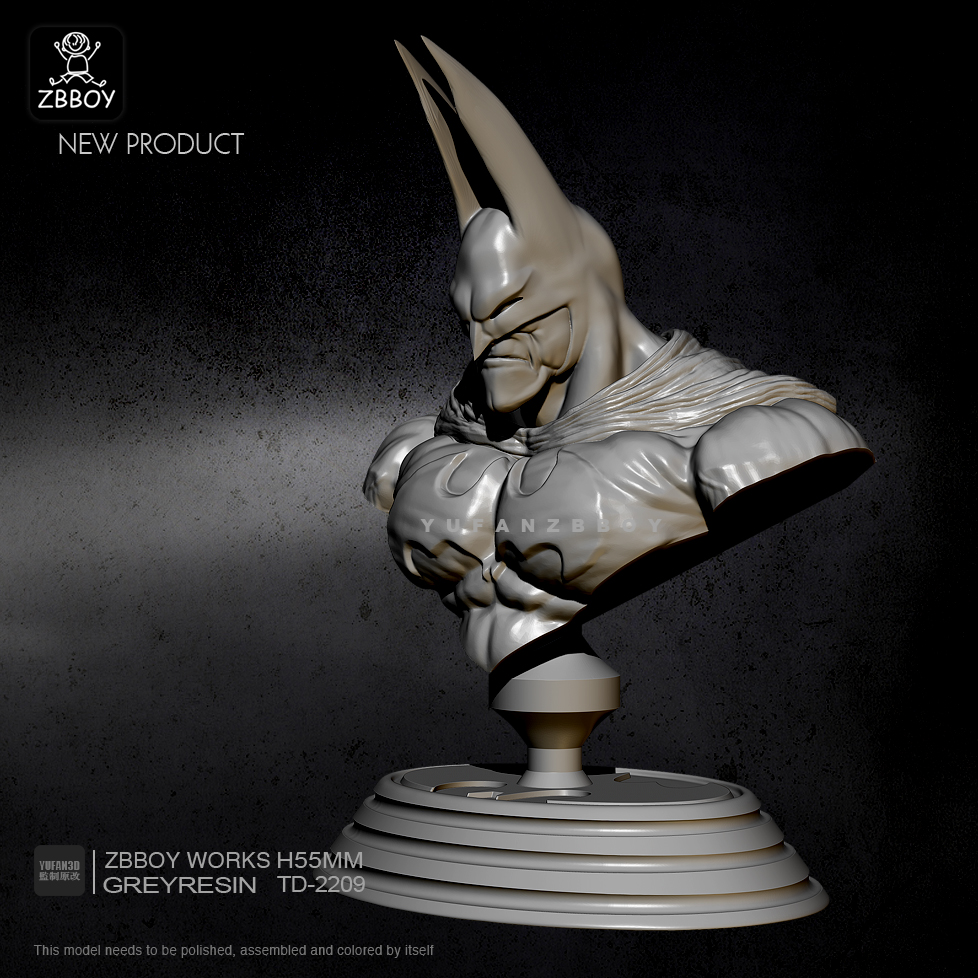 1/10 Resin Bust Kits Batman Model Self-assmebled TD-2209