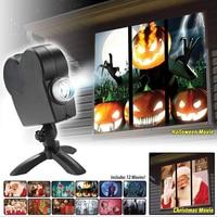 Window Display Laser DJ Stage Lamp Christmas Spotlights Projector Wonderland Movies Projector Lamp Halloween Party Lights