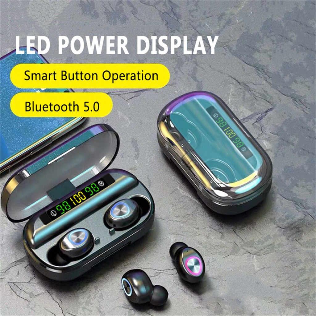 Auriculares Bluetooth #50 TWS, auriculares inalámbricos con Control táctil, sonido estéreo 8D, Auriculares deportivos para videojuegos