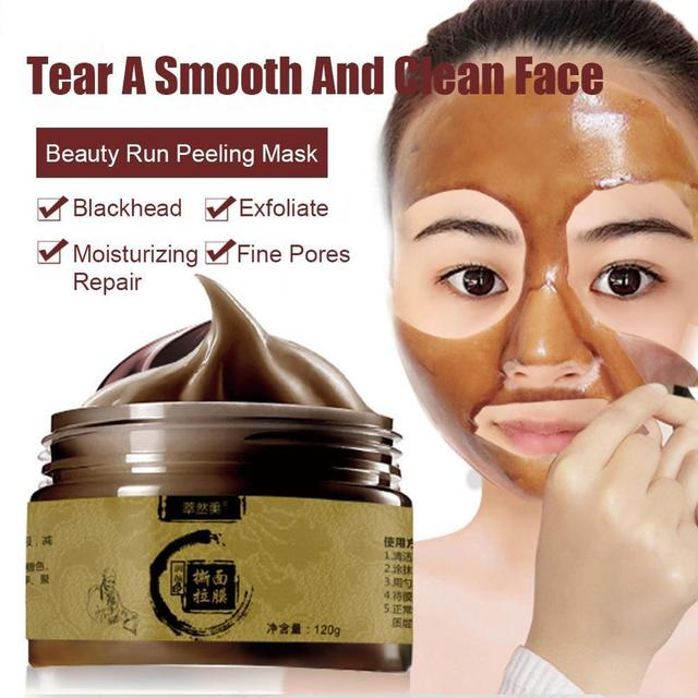 Herbal Beauty Peel-off Transitional Herbal Ginseng Black Head Peel Off Face-pack Clean Pores Blackheads Face-pack 8