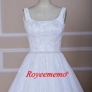 Image 3 - Vestido de Noiva special lace design wedding dress vest top design wedding gown wholesale price bridal dress factory directly