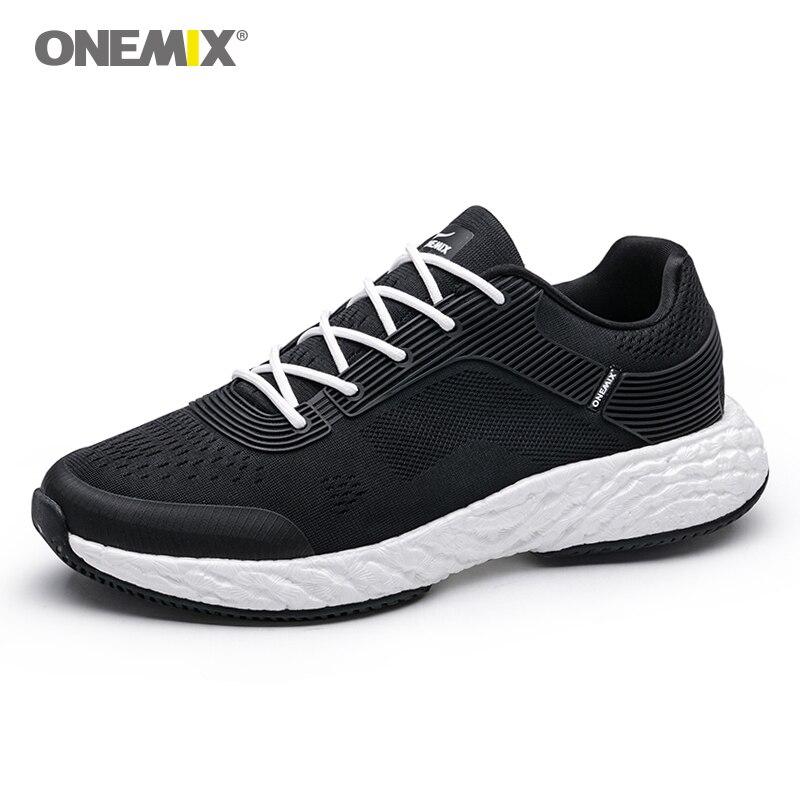 ONEMIX Running Shoes For Men Marathon Rebound 58 Energy Drop High-tech Elastic Flexible Midsole Anti-skid Outsol Sneakers
