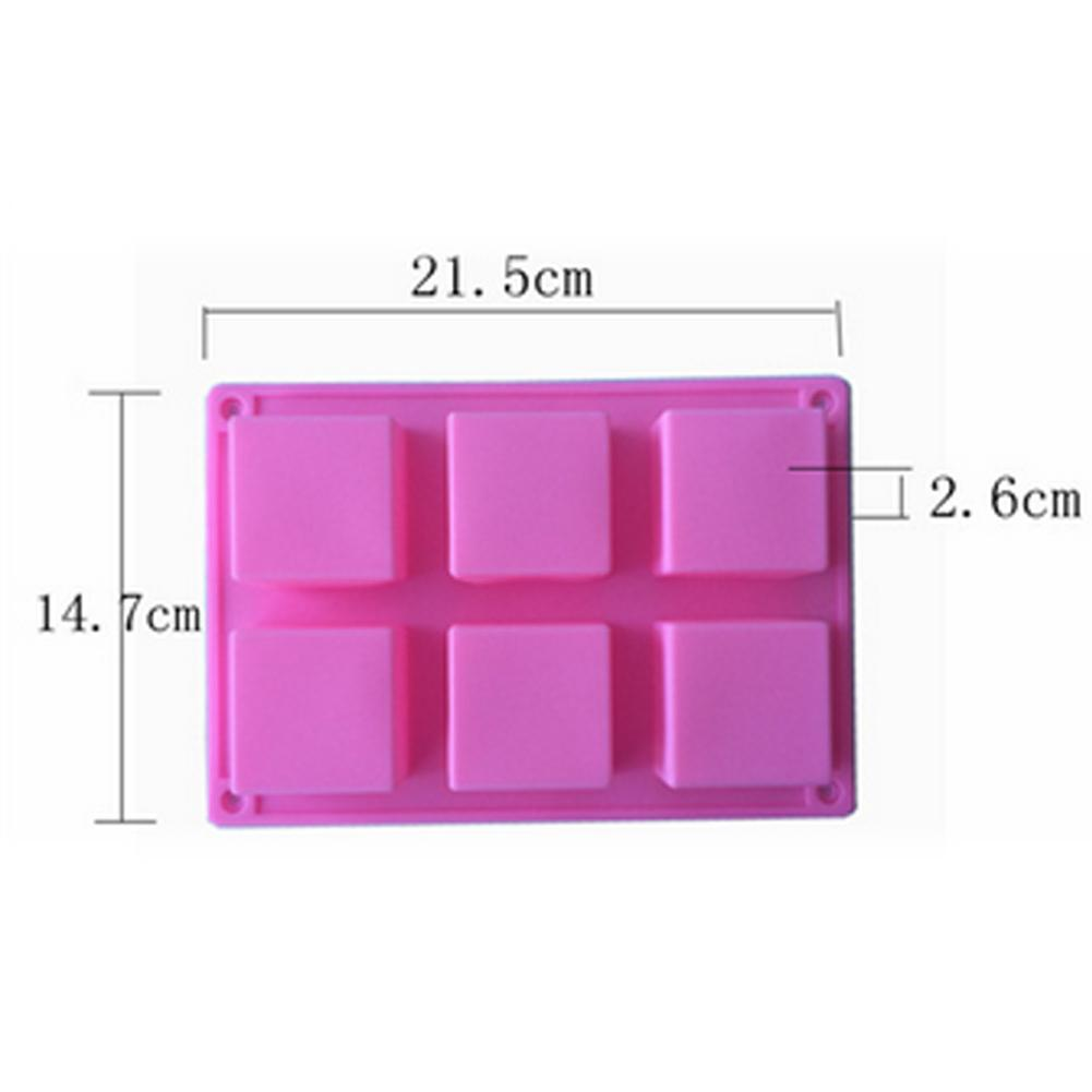 6 Cavities DIY Handmade Rectangle Silicone Crafts Molds Chocolate Cookies Mould Cake Decorating Fondant Mold Cake Design in Cake Molds from Home Garden