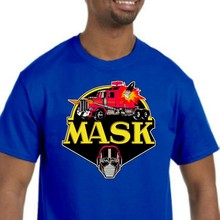 Máscara t camisa nova (nwt) escolha sua cor & tamanho 80 cartoon tv mostrar