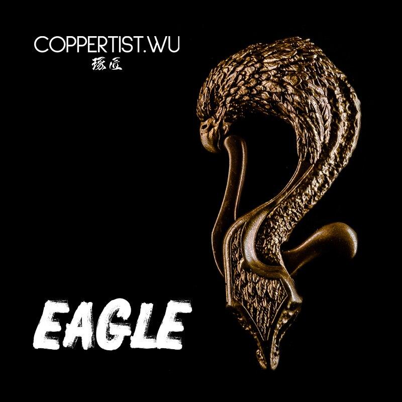 COPPERTIST.WU оригинальный брелок с фигуркой орла ручной работы брелок для ключей с изображением животных из твердой бронзы подарки изысканные д