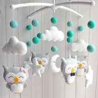Bebê móvel chocalhos brinquedos 0-12 meses para bebê recém-nascido berço cama sino oyuncak criança chocalhos carrossel para berços crianças brinquedo feito à mão