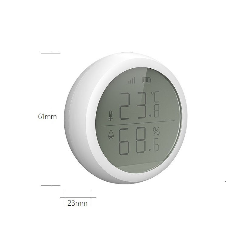 Image 4 - Tuya Zigbee smart Home Temperature & Humidity Sensor with Lcd screen, Support IFTTT function auto turn on TV  or air Cons.Smart Temperature Control System   -