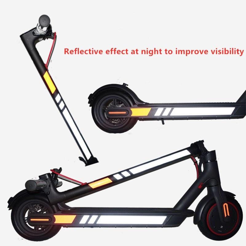 Светоотражающая наклейка на скутер, ПВХ водонепроницаемая полоска для ночной езды, для Xiaomi Mijia M365