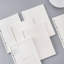 100 Sheets PP Boxed Binder Replacement Refill B5 26 Hole/A5 20 Hole Grid Horizontal Line/Cornell Notebook Core Loose-Leaf Paper