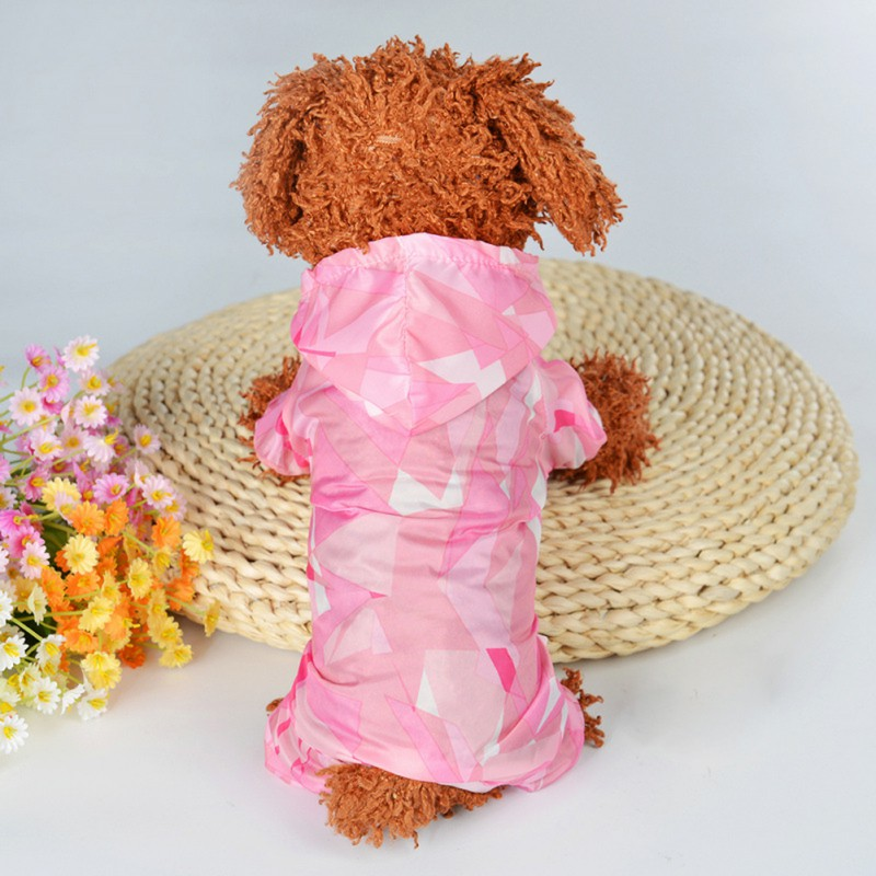 Dog Raincoats Coats Jackets For Small Dogs With Big Storage Bag Sporty Waterproof Elastic Sleeve Dog Clothes