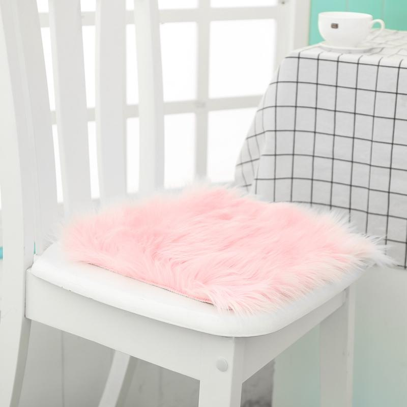 12  Hot Sale Faux Sheepskin Chair Cover 3 Colors Warm Hairy Wool Carpet Seat Pad Long Skin Fur Plain Fluffy Area Rugs Washable
