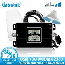 をlintratek gsm 2 グラム 900 3 グラム 2100 促進制御信号リピータブースターwcdma携帯電話の信号ブースターアンプgsm umts + 2 グラム 3 グラムアンテナ